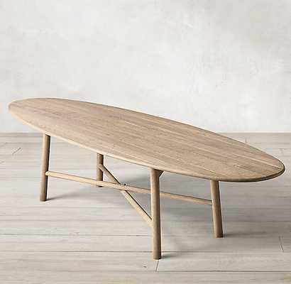 """SURFBOARD OAK OVAL DINING TABLE - 96"""" OVAL TABLE - RH"""