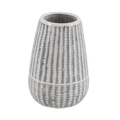 Gittens Modern Ribbed Stoneware Table Vase - Wayfair