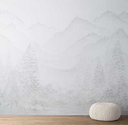 MOUNTAIN LANDSCAPE REMOVABLE WALLPAPER MURAL - RH Baby & Child
