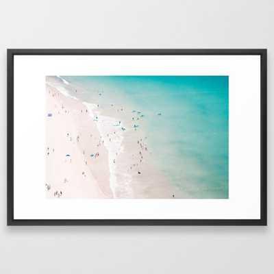 beach - summer love II Framed Art Print by Ingz - Society6