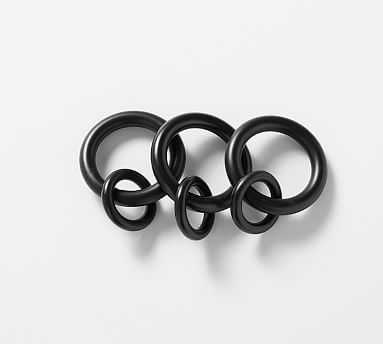 PB Standard Round Rings, Set of 7, Small, Antique Bronze Finish - Pottery Barn