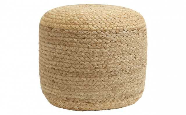 JUTE BRAIDED POUF - Jayson Home