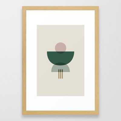 Emerald Abstract Half Moon 3 Framed Art Print - Society6