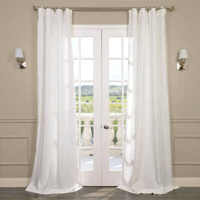 Pyrogi Linen Sheer Rod Pocket Single Curtain Panel - Wayfair