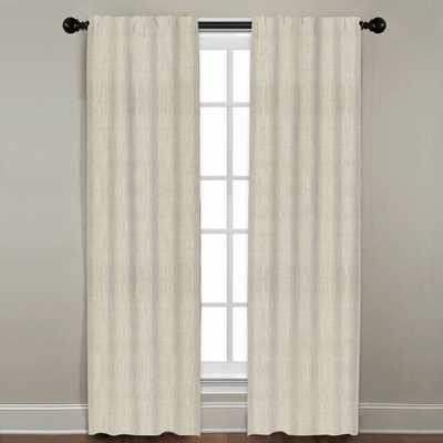 "Linen Drapery Single Panel, Natural, 84"" - Havenly Essentials"