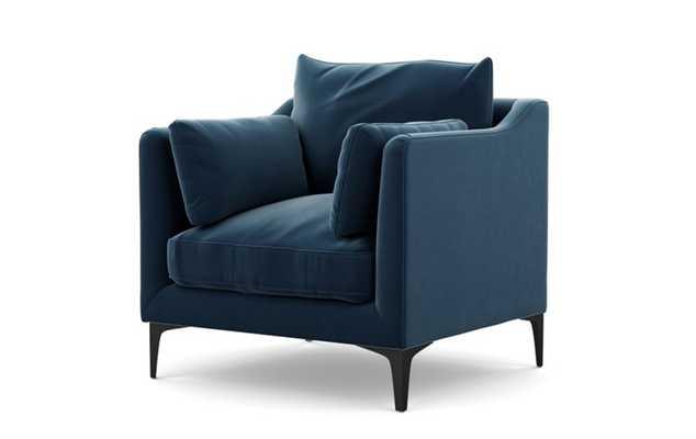 CAITLIN BY THE EVERYGIRL - Sapphire Mod Velvet - Matte Black Sloan L Leg - Interior Define