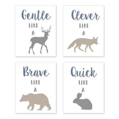 Woodland Animals Art Paper Print (Set of 4) - Wayfair