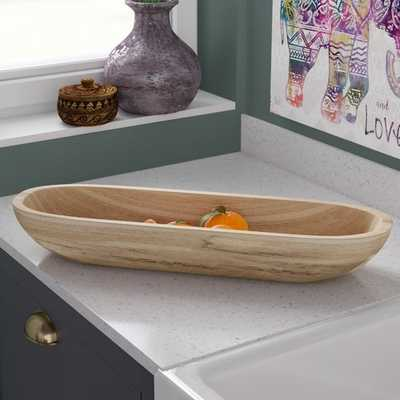 Kailyn Paulownia Wood Rectangle Decorative Bowl - Wayfair