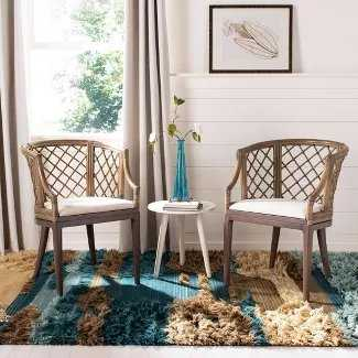 Dining Chair Wood/Light Gray - Safavieh - Target
