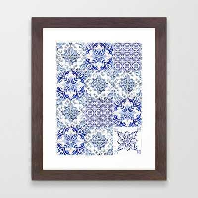 Azulejo VIII - Portuguese hand painted tiles Framed Art Print - Society6