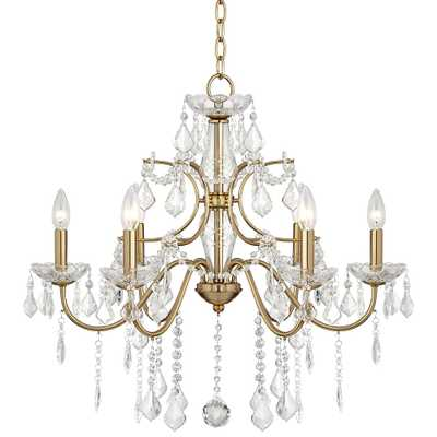 "Magrite 26 1/2"" Wide Soft Gold 6-Light Chandelier - Style # 64V77 - Lamps Plus"