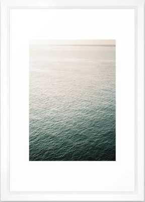 "Coastal beach photography ""Free as the ocean"" | Modern wall Art Sea Ibiza Framed Art Print - Society6"
