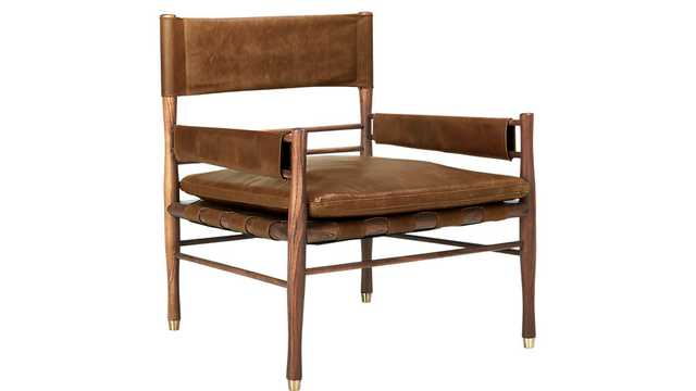 Nomad Leather Safari Chair - SHIPS EARLY JUNE - CB2
