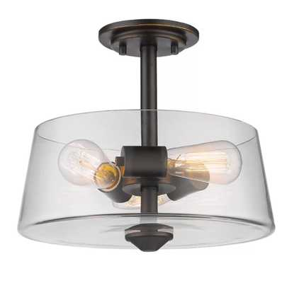 Clayton 3-Light Drum/Cylinder Semi Flush Mount - AllModern