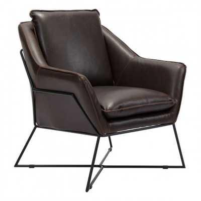 Lincoln Lounge Chair Brown - Zuri Studios