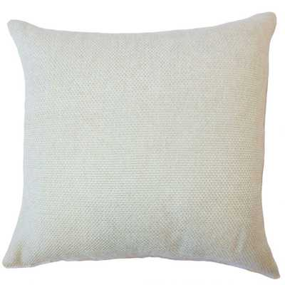 "Yuna Solid Pillow Seafoam - 20""x20"" - With Down Insert - Linen & Seam"