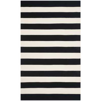 Montauk Black/Ivory 8 ft. x 10 ft. Area Rug - Home Depot
