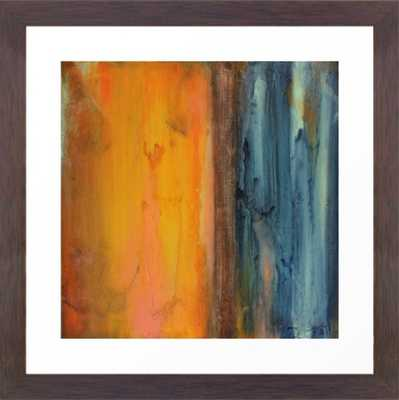 Blue and Orange - Textured Abstract Framed Art Print - Society6