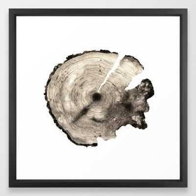cross-section II Framed Art Print, 22 X 22, Vector Black Frame - Society6
