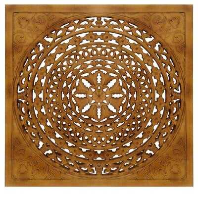 All Carved Square Wall Décor - Wayfair