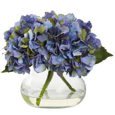 Blooming Hydrangea w/Vase - Blue - Fiddle + Bloom