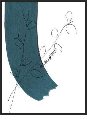 """Eucalyptus - Matte Black Metal Frame - 12.5"""" x 16.5"""" - Artfully Walls"""