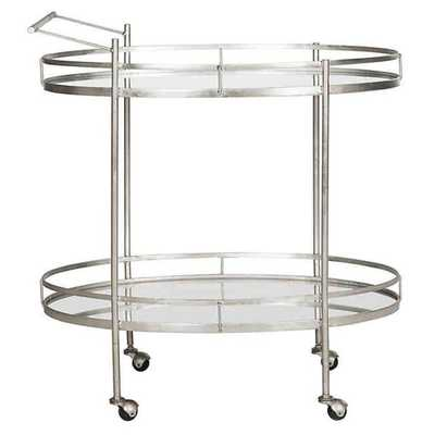 Safavieh Dante Bar Cart in Silver - Bed Bath & Beyond