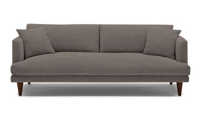 Blue Lewis Mid Century Modern Sofa - Cordova Eclipse - Mocha - Cylinder Legs - Joybird