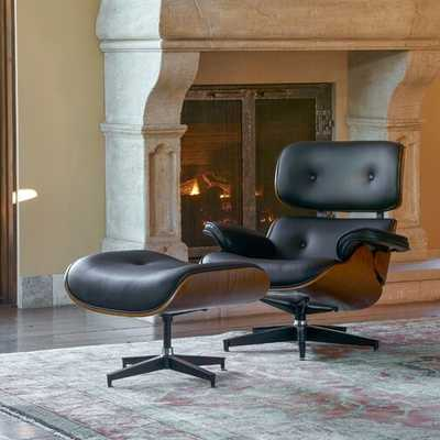 Omari Swivel Lounge Chair and Ottoman, Black - Wayfair
