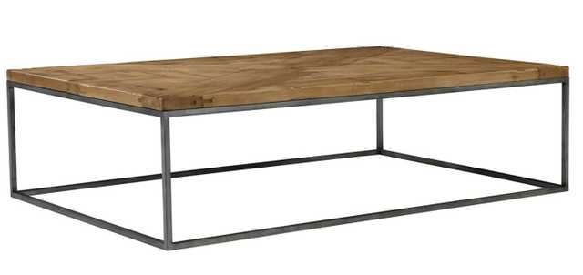 Parquet Rectangle Coffee Table, Scrubbed Walnut - One Kings Lane