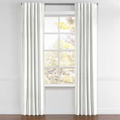 "Back Tab Drapery Pair Classic Linen - White 103"" - Loom Decor"