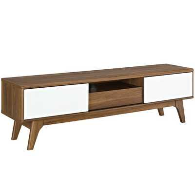 "ENVISION 59"" TV STAND IN WALNUT WHITE - Modway Furniture"