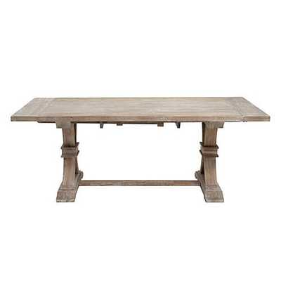 """Archer Extending Dining Table, 78"""" Washed Oak Finish - Z Gallerie"""