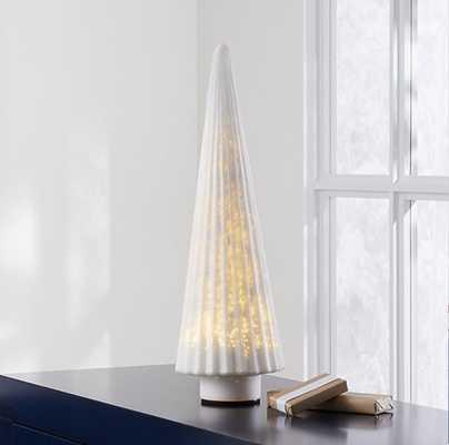 "White 23"" Mercury Glass Tree - Crate and Barrel"