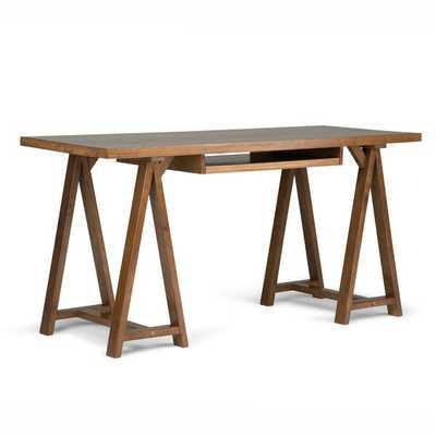 Brown Ine Solid Wood Desk - Wayfair