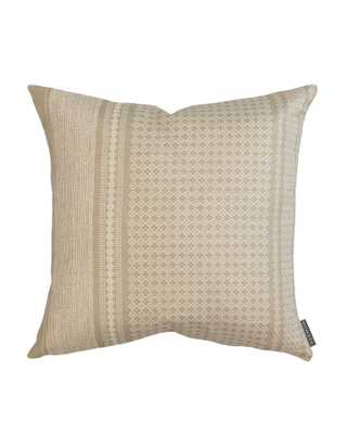 "ELLEN DOTTED PRINT PILLOW COVER, 20"" x 20"", TAN - McGee & Co."