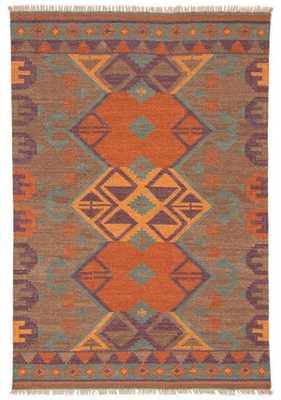 Kaliediscope Handmade Geometric Multicolor Area Rug (8' X 10') - Collective Weavers