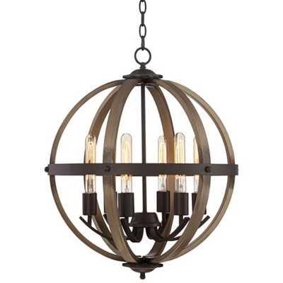 "Kimpton 6-Light 21"" Wide Dark Bronze LED Orb Chandelier - Lamps Plus"