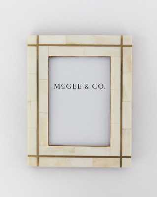 BRASS BORDERLINE FRAME // LARGE - McGee & Co.
