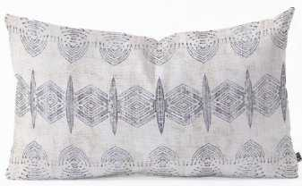 FRENCH LINEN ERIS Oblong Throw Pillow -26x16 with insert - Wander Print Co.