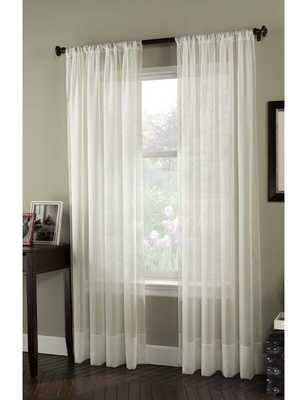 Charlton Home Constantina Solid Sheer Rod Pocket Single Curtain Panel - Wayfair