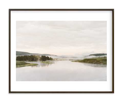"Misty Lake Art Print - 20"" x 16"" Matte Black Frame, White Border - Minted"