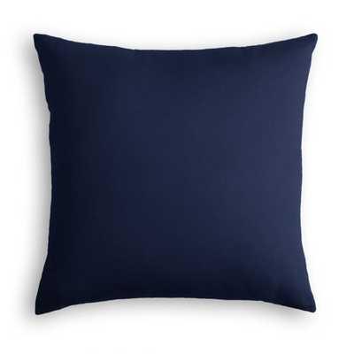 Navy Velvet Throw Pillow - 20x20 + down insert - Linen & Seam