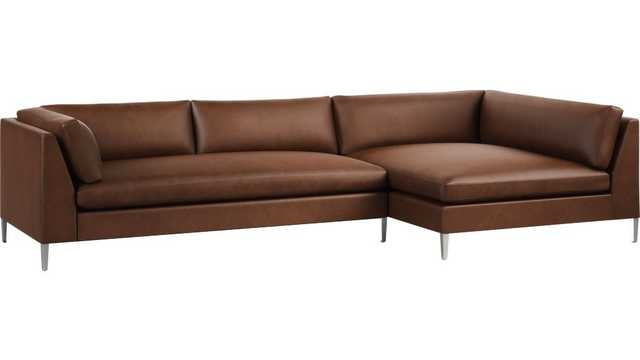 Decker 2-Piece Leather Sectional Sofa - CB2