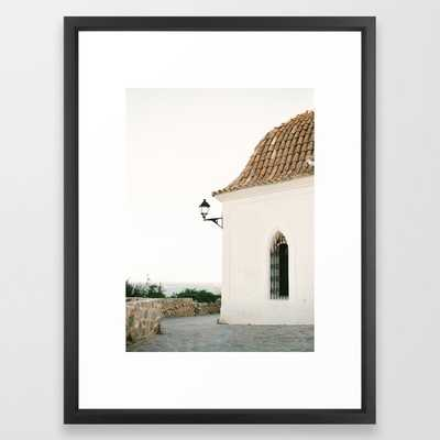 """Ibiza white"" with Vector Black Frame - 20"" X 26"" - Society6"