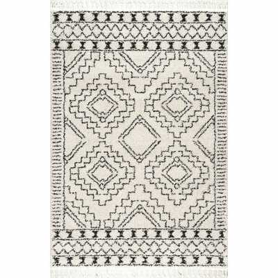 Lydia Southwestern Off-White/Gray Area Rug - Wayfair