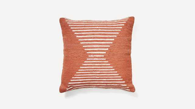 Woven Cathode Pillow Cover with Insert - Burrow