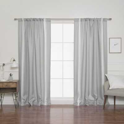 Fabian Reverse Striped Room Darkening Rod Pocket Curtains / Drapes (Set of 2) - Wayfair