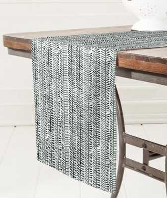Dash and Ash Herring Table Runner - Wander Print Co.