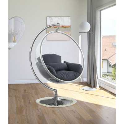 Luna Acrylic Bubble Accent Swing Chair with Stand - Wayfair